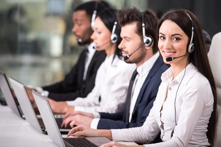 Employees Using Cloud Based Communication at a Call Center